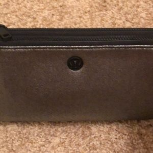 lululemon athletica Bags - NWT Lululemon Double Up Pouch Shiny silver/black
